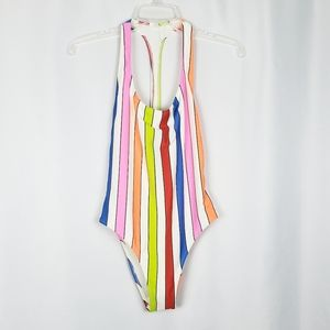 NWOT AERIE striped one piece swimsuit